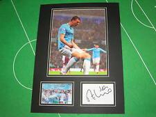 Manchester City Edin Dzeko Signed 2014 Champions Goal Celebration Mount