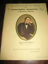 Souvenir Book of Songs Stephen Foster Story of Bardstown Kentucky Music ON SALE