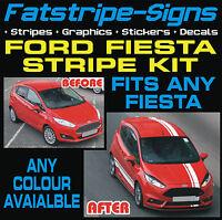 FORD FIESTA MK7 ST STRIPES CAR VINYL GRAPHICS DECALS RACING STICKERS 1.6 ZETEC T