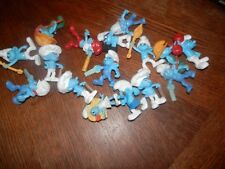 Large Lot of PVC McDonald's Toys Smurfs, Measure 3 in. high