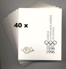 GREECE - 1996 OLYMPICS 40 x SET OF 3 SOUVENIR SHEETS MINT/NH IN FOLDER WHOLESALE