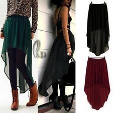 Asymmetrical Hem Regular Size Chiffon Dresses for Women
