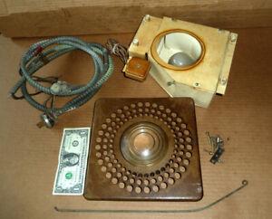 Vintage Phone Booth Telephone Bell System Western Elec.Overhead Light,Box,Lens &