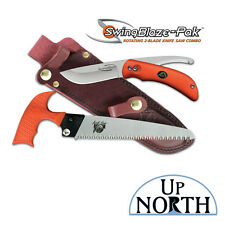 Outdoor Edge SwingBlaze-Pak Rotating 2-Blade Knife/Gut and Saw Combo with Sheath