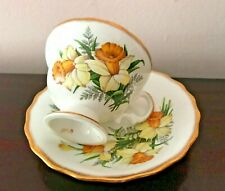 Vintage Tea Cup & Saucer Rosina Bone China Made In England Daffodil Numbered