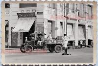 40s Street Scene Police Traffic Truck Lorry Shop  Vintage Singapore Photo 17667