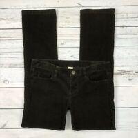J.CREW City Fit Corduroy Pants Size 29 Womens Brown Straight Leg 95824 Stretch