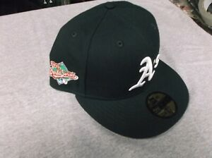 OAKLAND A.S (RIGHT EAR) 1989 World Series New Era Hat PLUS FREE VINTAGE CDS