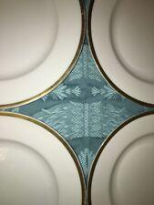 "4 TURINI Bavaria white gold antique 7.75"" plates Baronial antique china dishes"