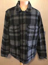 Polo Ralph Lauren Denim Supply Wool Jacket Coat Blue Gray Black Plaid $245 XL