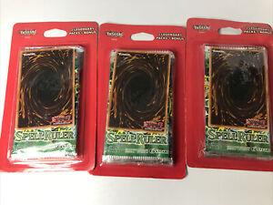 3x Yugioh Blister Pack w/ (3) Booster Packs Spell Ruler +