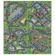 4x LARGE KIDS CITY ROAD FLOOR PLAY MATS - AIRPORT, DOWN TOWN, RACE TRACK, town