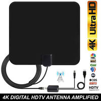 100 Miles Range TV Antenna 1080P HD 4K Digital Indoor Amplifier Signal Booster