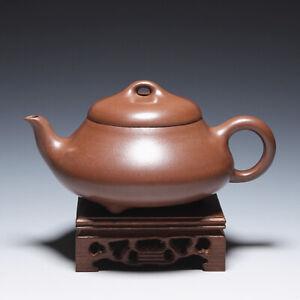 OldZiSha-Famous China Yixing Zisha Used 400cc Teapot By Master Gu JingZhou