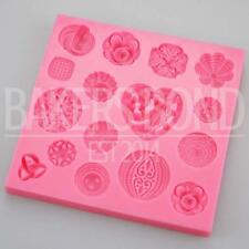 Multi VINTAGE intricato trama Jewelled FERMAGLI stampo in silicone Heart Rose