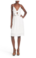 Leith Tie Front Dress White Ivory Egret Sz XL party cocktail NEW Tags $72