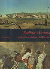 realismo e verismo nella pittura italiana dell 800- fabbri - 1967 sovracopertina