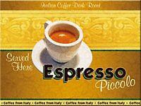 Espresso Kaffee Stahl Kühlschrank Magnet (Na) Reduziert