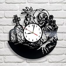 Zombie Walking Dead design vinyl record clock home decor art shop office club