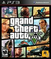 Grand Theft Auto V PlayStation 3 2013 Sony PS3 GTA 5 car game disc in case