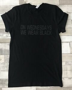 On Wednesdays We Wear Black Unisex T-Shirt Men's Womens XS - 2XL
