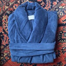 NEW $300.LUXURY FRETTE SHAWL COLLAR TURKISH Cotton Bathrobe NAVY Size XL Unisex