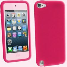 Pink Silicone Gel Skin Case for Apple iPod Touch 6th 5th Generation itouch Cover