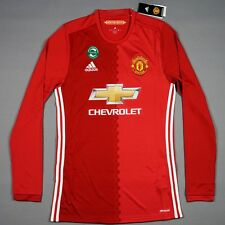BNWT Manchester United Jersey 2016/17 M Home Longsleeve Camiseta Trikot Shirt