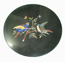"""Black Marble India Heritage Art Stunning Table Top For your Royal Home Round 15"""""""