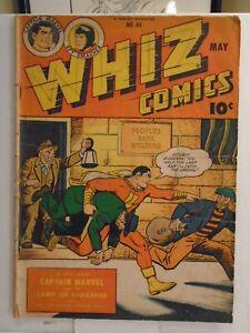 WHIZ COMICS #65 (1945) Captain Marvel, Golden Arrow Spy Smasher, Basil Wolverton