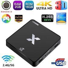 Scishion x 4k Rk3229 Quad Core Android 8.1 TV Box 5g Wifi HD Media 2go 16go T1o5