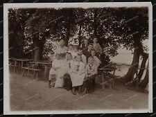 VINTAGE PHOTO -1909 - Plau sul lago-Ludwig lussuria-Parchim-sosta posto MARE-Happy Family