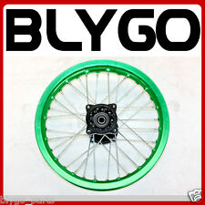 "GREEN 90/100- 14"" Inch Alloy Rear Back Wheel Rim PIT PRO Trail Bigfoot Dirt Bike"