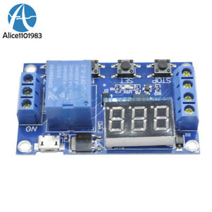Micro USB 5V LED Automation Delay Timer Control Switch Relay Module Display
