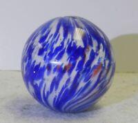 #11539m Vintage German Handmade Onionskin Marble 1.12 Inches
