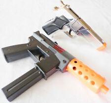 2x Toy Machine Guns Military Soldier Dual Kg-9 Cap Gun Pistol Set