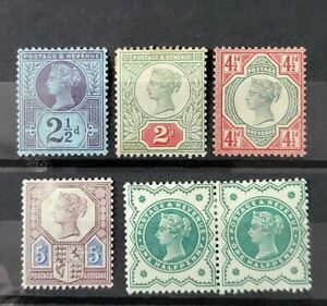 GB QUEEN VICTORIA 6X JUBILEE ISSUE STAMPS M/MINT