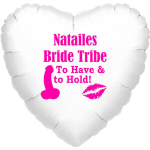 """Personalised  Hen Do Party Balloon Gift decoration 18"""" foil balloon bride hen"""
