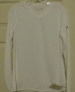 Women's New Balance Long Sleeve Endurance White Tec Shirt New MEDIUM