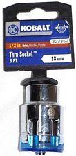 "KOBALT THRU SOCKET 1/2"" Drive 18mm Metric 6pt THRU-SOCKET 323359"
