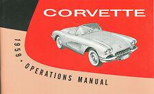 1959  59   CORVETTE  OWNERS MANUAL