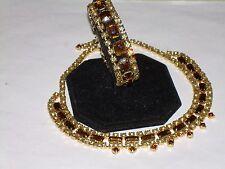 Amber Demi - Parure Set - Rhinestone Choker Necklace & Bracelet