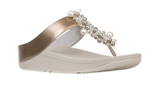 Fitflop Deco Silver Flip Flop Sandal Women's sizes 5-11/NEW