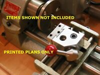 Plans-Build Your Own Quick Change Tool Post Fits Unimat DB200,SL1000 Sherline