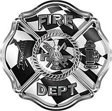 "Firefighter Fire Department Maltese Cross Decal Racing Flag 6"" REFLECTIVE FF32"