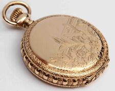 1897 ELGIN Ornate Antique Hunting Case Pocket Watch - Excellent & Working Fine