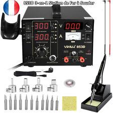 853D Station de Fer à Souder 3-en-1 Air Chaud Station de Soudage Numérique SMD
