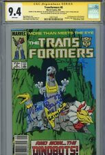 """TRANSFORMERS #8 Marvel Authentic Signed GREGG BERGER +2 """"GRIMLOCK"""" (CGC SS 9.4)"""