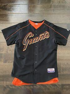 San Francisco SF Giants Baseball Jersey Authentic Black Majestic Medium M NICE!