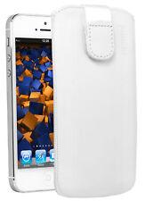 mumbi Leder Tasche für Apple iPod Touch 5G 6G Etui Hülle Case Cover Schutz weiß